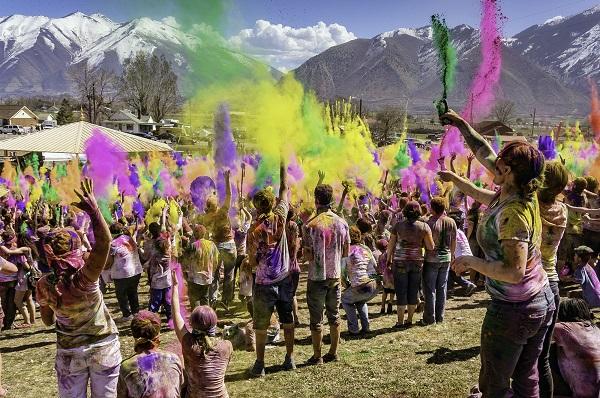 Fiesta Holi en la India.