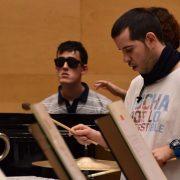 """Alejandro Peralvo en un ensayo de """"Mosaico de sonidos"""". Foto: ORCAM"""