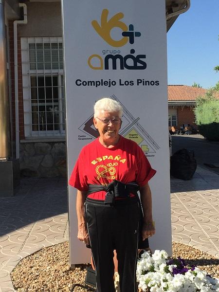 Concha Moreno en la Residencia Los Pinos de Grupo AMÁS. Foto: Grupo AMÁS.