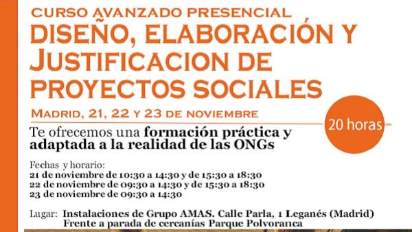 Curso de elaboración y justificación de Proyectos Sociales.