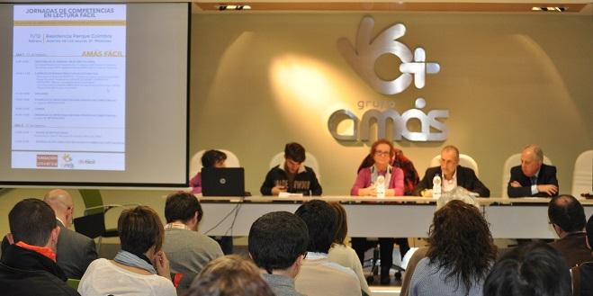 Jornadas de competencias en lectura fácil. Foto: Grupo AMÁS.