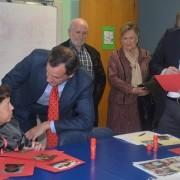 Jorge Jiménez de Cisneros Baylle-Baillère, Director General de Discapacidad de Madrid visita la Residencia Los Pinos. Fotos: Grupo AMÁS.