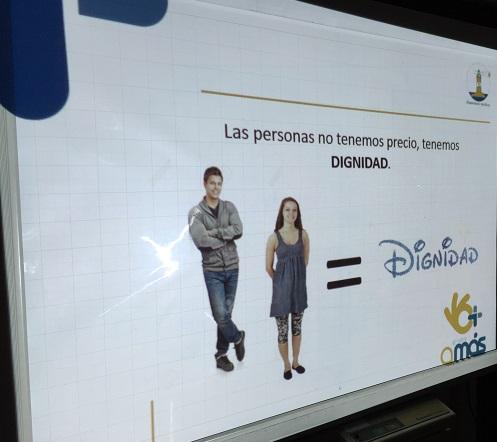 Material audiovisual formación sobre Ética. Foto: Grupo AMÁS.