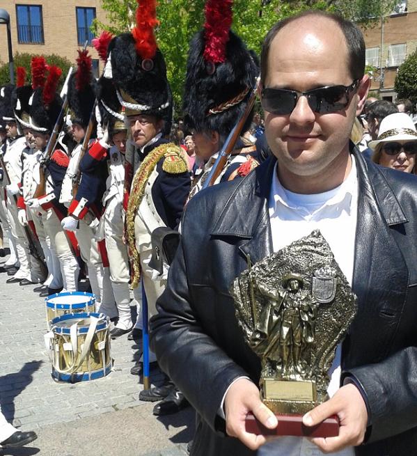 José Arace, usuario de Grupo AMÁS, galardonado en IV Edición de los Premios Mostoleños.