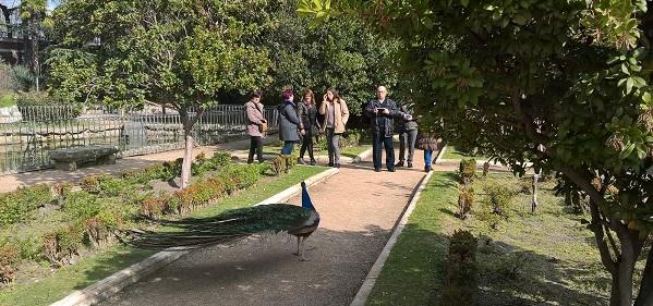 Paseo por los Jardines del Moro. Foto: Grupo AMÁS.