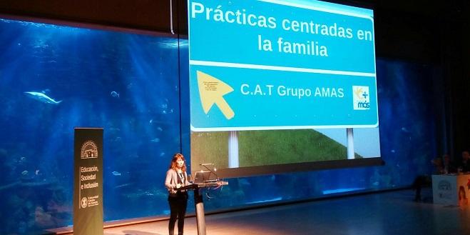 Mar Marín, Directora de Atención Temprana de Grupo AMÁS en el Congreso de Desarrollo Infantil de Valencia. Foto: Grupo AMÁS.