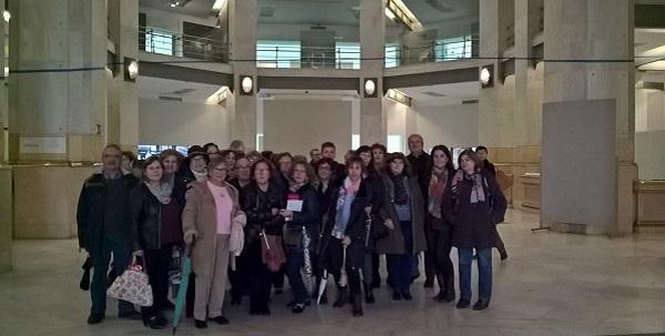 Visita al Palacio de Cibeles de ¿Qué hay de lo tuyo?. Foto: Grupo AMÁS.
