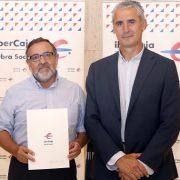 Manuel Galiano, Secretario General de Grupo AMÁS y Juan Carlos Sánchez Bielsa, Obra Social Ibercaja.