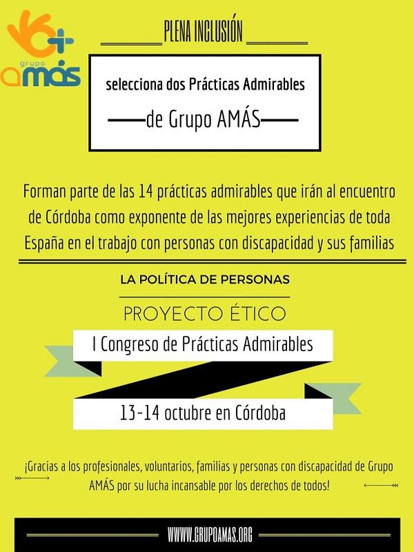 Plena Inclusión selecciona dos Prácticas Admirables de Grupo AMÁS. Foto: Grupo AMÁS.