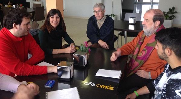 Los expertos internacionales en discapacidad intelectual, Robert Schalok y Miguel Angel Verdugo, visitan Grupo AMÁS. Foto: Grupo AMÁS.