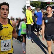 Mario Corchero y Noelia Mansilla, campeones de la Carrera Solidaria de 2016. Foto: Grupo AMÁS.
