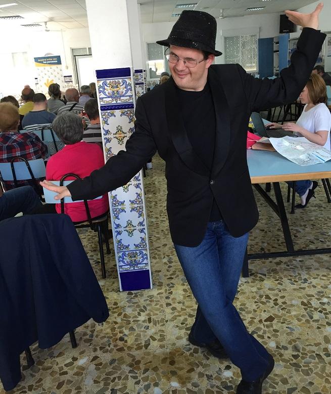 Israel, actor de AMÁS Escena. Foto: Grupo AMÁS.
