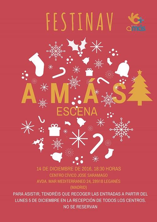 Diferentes festivales llenan de Navidad a Grupo AMÁS. Foto: Grupo AMÁS.