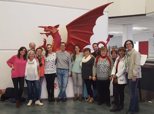 Delegación de Plena Inclusión en Gales. Foto: Grupo AMÁS.