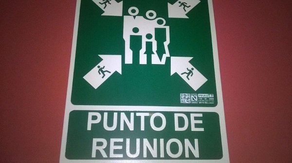Ejemplo de los nuevos pictogramas en el Centro Padre Zurita. Foto: Grupo AMÁS.