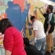 El Mural de la Inclusión en la estación de Metro de Chamartín. Foto: Grupo AMÁS.
