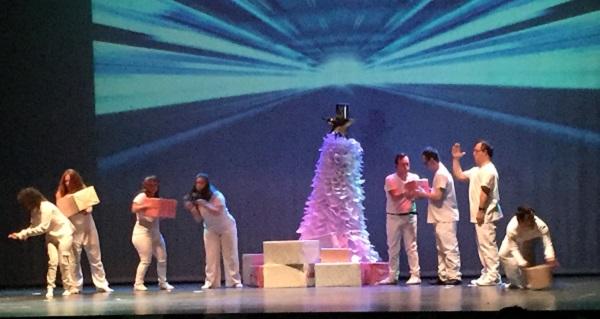 """""""Cuento de Navidad"""" en el Festinav de Grupo AMÁS. Foto: Grupo AMÁS."""
