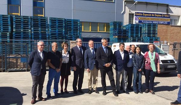 Ángel Gabilondo y David Lucas visitan el Gestor de Residuos de Grupo AMÁS. Foto: Grupo AMÁS.