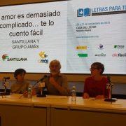 """Presentación del libro """"El amor es demasiado complicado"""", seleccionado como Experiencia Admirable en el Congreso de Accesibilidad Cognitiva organizado por Plena Inclusión. Foto: Grupo AMÁS."""