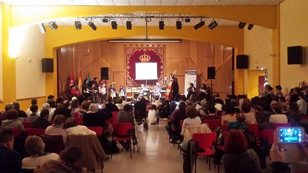 """Actuación de """"Probando Big Band"""". Foto: Grupo AMÁS."""