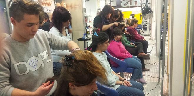 Inclusión en la Academia de Estética CHS de Móstoles. Foto: Grupo AMÁS.