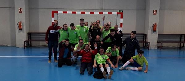 Equipo de Grupo AMÁS en el Equipo de Grupo AMÁS en I Campeonato Nacional Inclusivo de Fútbol Playa en Torrijos . Foto: Grupo AMÁS.