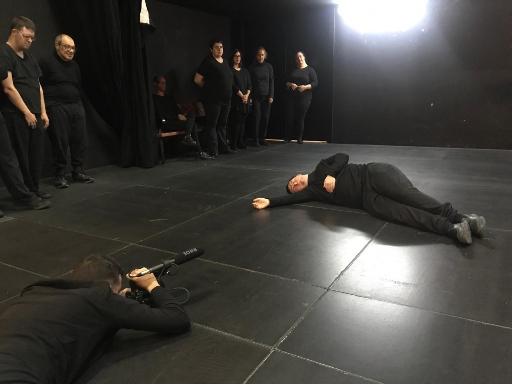 Grabación de una actuación de AMÁS Escena. Foto: Grupo AMÁS