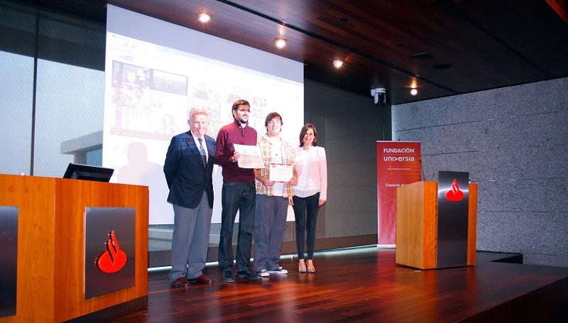AMÁS Fácil recibe el premio de la Fundación Universia. Foto: Grupo AMÁS.