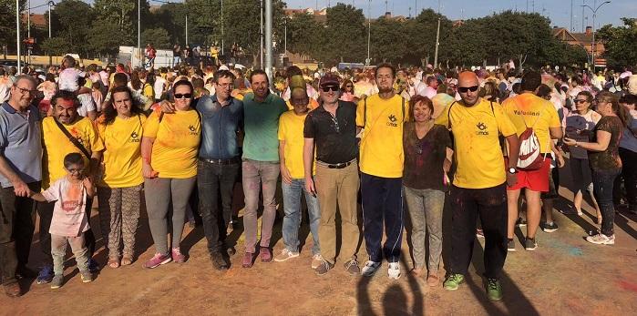 Representantes municipales de Fuenlabrada encabezan la marcha solidaria AMÁS Holi. Foto: Grupo AMÁS.