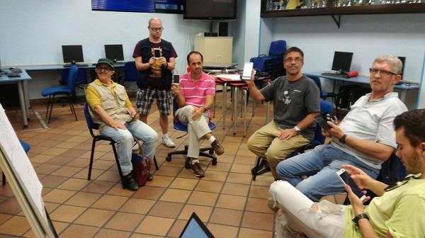 """Formación en """"Nuevas tecnologías"""" en Club Amigos. Foto: Grupo AMÁS."""