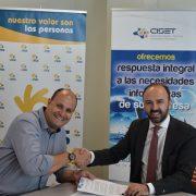 Manuel Moreno, Director del Área de Empleo de Grupo AMÁS y Emiliano Fernández, Director de CISET. Foto: Grupo AMÁS.