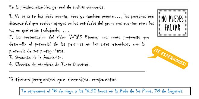 El 18 de mayo se celebra la Asamblea General de socios de ADFYPSE. Foto: Grupo AMÁS.