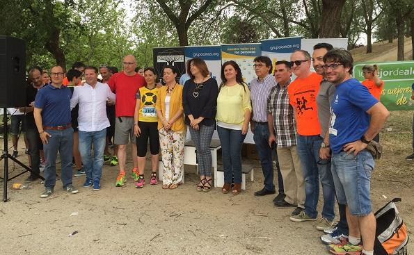 Políticos y empresas de Alcorcón y Leganés han apoyado la IX Carrera por la Inclusión. Foto: Grupo AMÁS.
