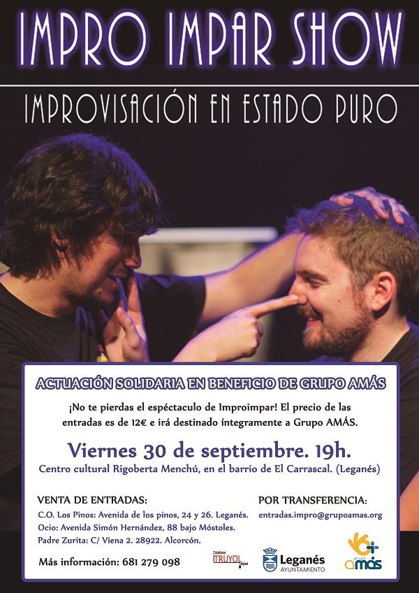 Actuación solidaria de Impro Impar en beneficio de Grupo AMÁS. Foto: Grupo AMÁS