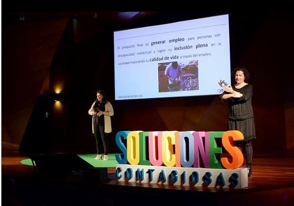 Teresa Rodriguez, Directora de Producción de Grupo AMÁS, en el foro Soluciones Contagiosas 2018.