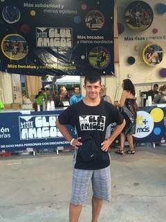 Carlos Hernández, Campeón del Mundo en Natación categoría Síndrome de Down. Foto: Grupo AMÁS.