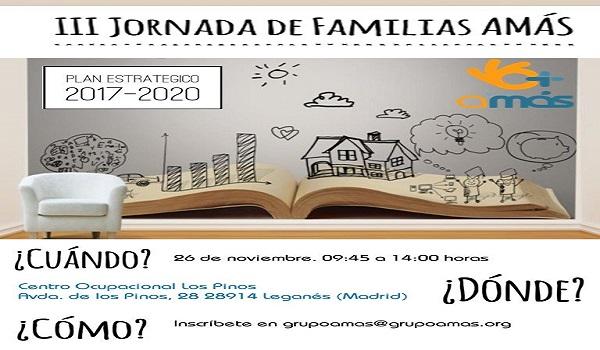 El 26 de noviembre se celebra la III Jornada de Familias AMÁS. Foto: Grupo AMÁS.