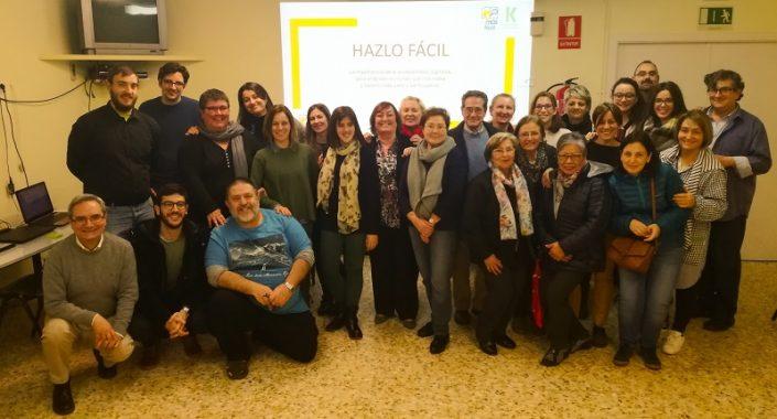 """""""Hazlo Fácil"""": Curso en lectura fácil a familias y profesionales. Foto: Grupo AMÁS."""