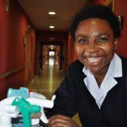 Flavia Nguema, trabajadora de Grupo AMÁS. Foto: Grupo AMÁS.