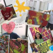 """Artistas exposición """"Yo también"""". Foto: Grupo AMÁS"""