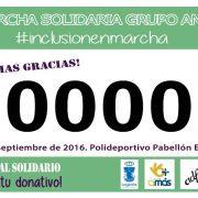 Contribuye con tu donativo a la inclusión de las personas con discapacidad intelectual. Marcha Solidaria. Foto: Grupo AMÁS.