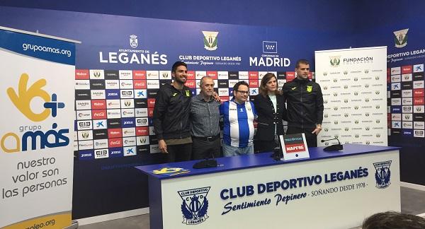 Rueda de prensa previa en el C.D. Leganés. Foto: Grupo AMÁS.