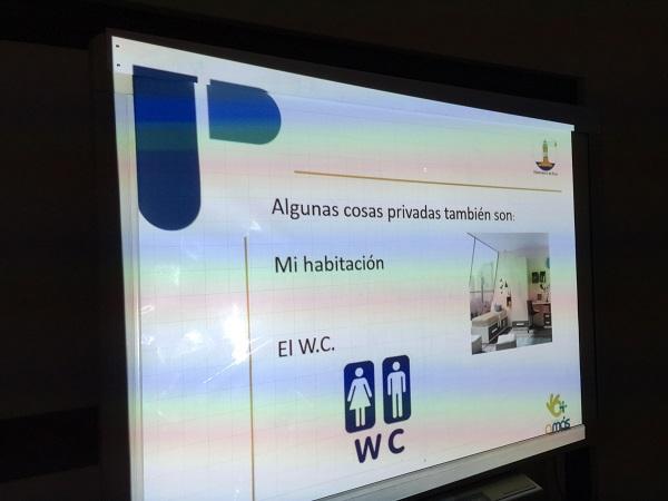 Material audiovisual de la formación sobre Ética. Foto: Grupo AMÁS.