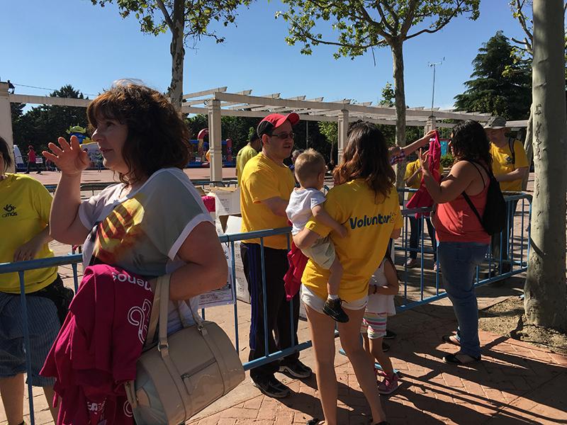 Voluntarios de Grupo AMÁS participando en la Jornada