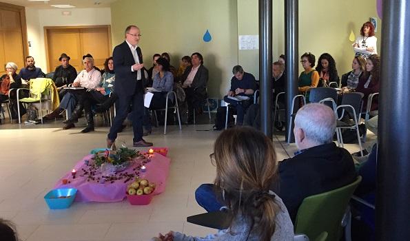 Ismael Carrillo, Director General de Atención a Personas, en la V Jornada de Red Ética de Grupo AMÁS. Foto: Grupo AMÁS.
