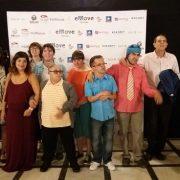 El grupo de artes plásticas Los Picassos en la gala de entrega de premios de Emove Festival. Foto: Grupo AMÁS.