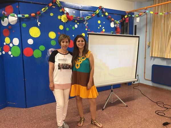 María Ángeles Sancho, Presidenta de AFANDEM y Ana María Cabeza, Directora Área de Apoyo a las Familias y Personas de Grupo AMÁS. Foto: Grupo AMÁS.