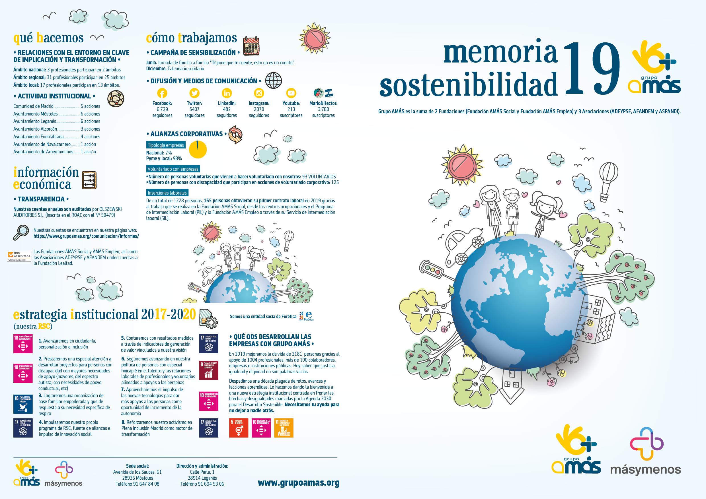 Memoria Sostenibilidad 2019 de Grupo AMÁS