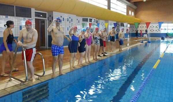 Entrenamiento de natación. Foto: Grupo AMÁS.