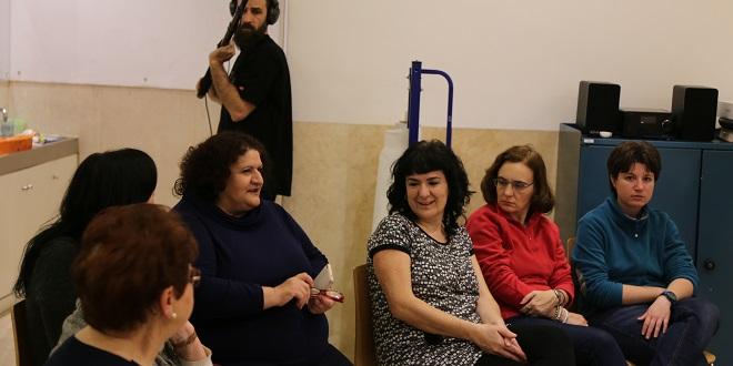 Mujeres de Grupo AMÁS participando en Nos+Otras en Red.